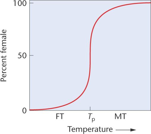 In this patterns of temperature-dependent sex determination (TSD), ...